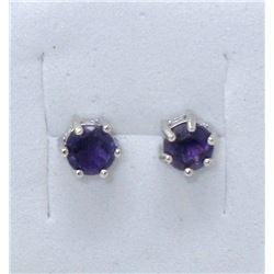 New Sterling Silver Amethyst Earrings