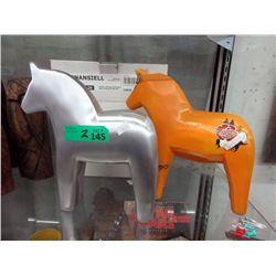 Mamma & Rare Swedish Aluminum Dala Horse