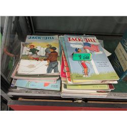 40 Vintage 1950's Jack and Jill Magazines
