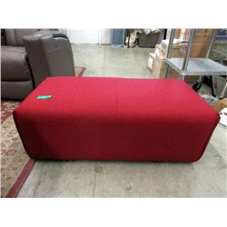 New Red Fabric Upholstered Bench