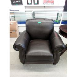 New Brown Amax Leather Down Filled Arm Chair