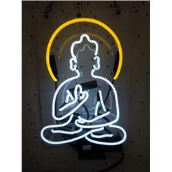 "New Electric Neon ""Buddha"" Sign - 9"" x 14"""