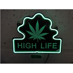 """New Electric Neon """"High Life"""" Sign - 9"""" x 14"""""""