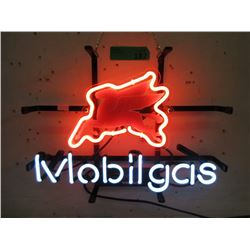 """New Electric Neon """"Mobilgas"""" Sign - 13"""" x 10"""""""