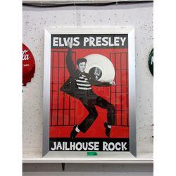 """Framed Elvis Presley """"Jail House Rocks"""" Poster"""