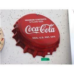 Embossed Metal Coca-Cola Bottle Cap Tin Sign