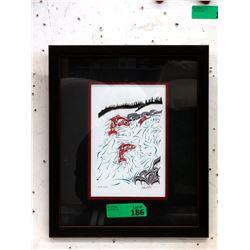 Richard Shorty Framed Print - Up the Creek