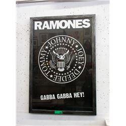 "Framed Ramones ""Gabba Gabba Hey"" Poster"