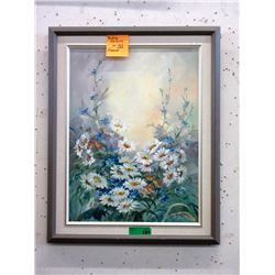 Signed Original Oil Painting of Daisies