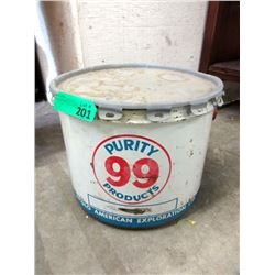 Vintage 25 Pound Purity 99 Grease Pail with Lid