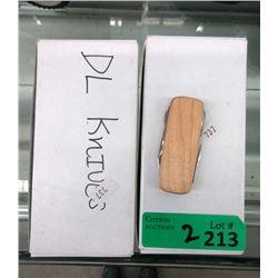20 New Wood Sided Pocket Knives