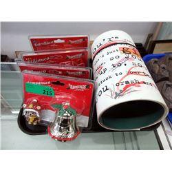 4 Coca-Cola Christmas Ornaments & 3 Banners