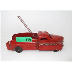 1950s Fire Dept Ladder Rescue Truck with Lift