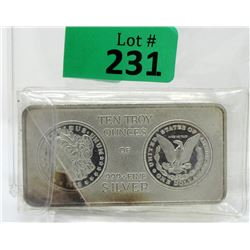 10Oz Vintage Style.999 Silver InvestorBar