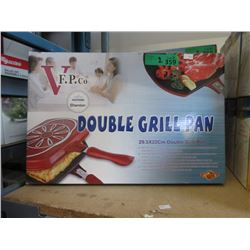 2 New Double Grill Pans