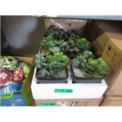 "4 Cases of Six 7"" Artificial Plants"