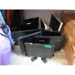 "9 Assorted 19"" Monitors - Untested."