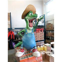 Giant 8 Foot Tall Fiberglass Cowboy Dinosaur
