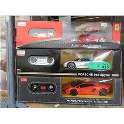 3 New 1:24 Scale R/C Sports Cars