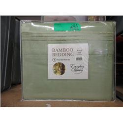 New King Size 4 Piece Bamboo Sheet Set - Green