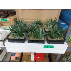 """5 Cases of 6 New 7"""" Artificial Plants"""