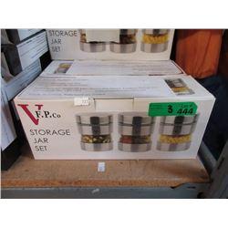 3 New 3 Piece Glass Storage Jar Sets