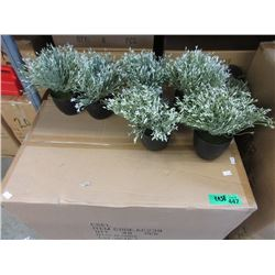 """Case of 48 New 8"""" Tall Artificial Plants"""