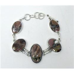 New Sterling Silver & Jasper Toggle Bracelet