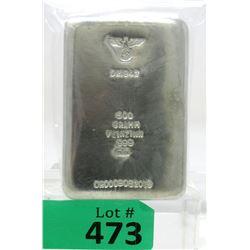"500 Gram ""Eagle and Swastika"" .999 Tin Bullion Bar"