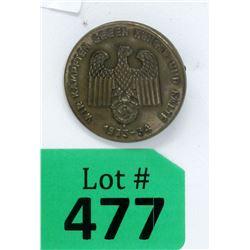1933-34 German Nazi Embossed Tinnie Badge