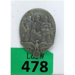 "1935 German Nazi ""Workers Day"" Tinnie Badge"