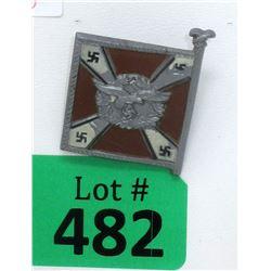 WWII German Nazi Plastic Flag Badge