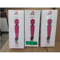 3 New Ammelee Cordless Vibrator/Massagers