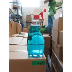 3 Cases of Windex Glass Cleaner - No Labels