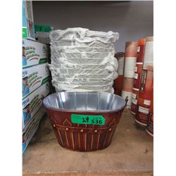 24 New Metal Planter Baskets with Liners