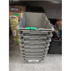 "15 Hard Plastic Containers - 12"" x 19"" x 6"" tall"