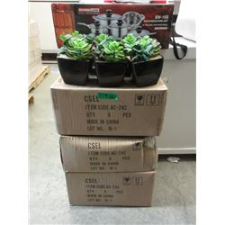 "4 Cases of 6 New 7"" Artificial Plants"