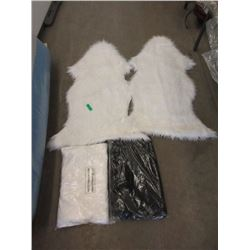 4 New Fun Fur Throw Rugs - Sheepskin Shaped