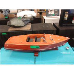 """Wood Boat Model - 8"""" x 24"""" x 5"""" tall"""