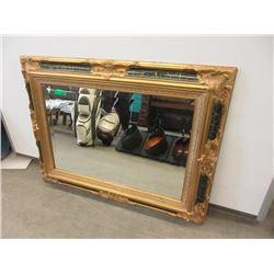 Large Gold Gilt Bevel Glass Wall Mirror