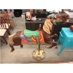 Vintage Wood Restored Carousel Horse