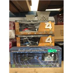 4 New R/C Cobra Helicopters