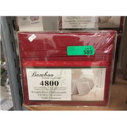 New Twin 3 Piece Polyester Sheet Set - Red