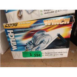 2 New 2000 LB Winches