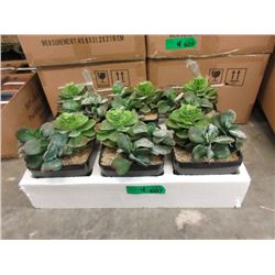 """4 Cases of 6 New 7"""" Artificial Plants"""