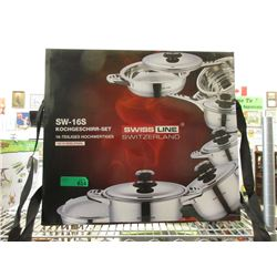 New Swiss 18/10 Stainless Steel Cookware Set