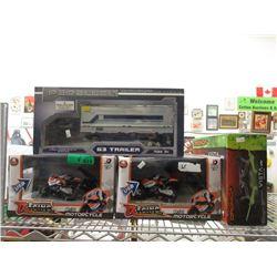 1 Scale Model G3 Trailer & 3 R/C Toys
