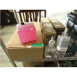 Commercial Hand Sanitizer Units & Pink Hand Soap