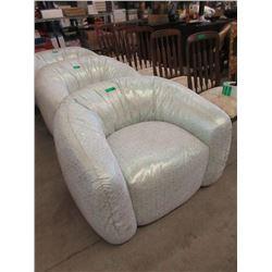 New Glitter Fabric Tub Chair
