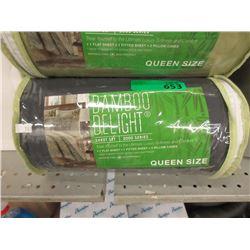 New Queen 4 Piece Bamboo Sheet Set - Grey